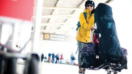 такси с горными лыжами